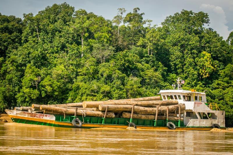 Logging ship stock photo