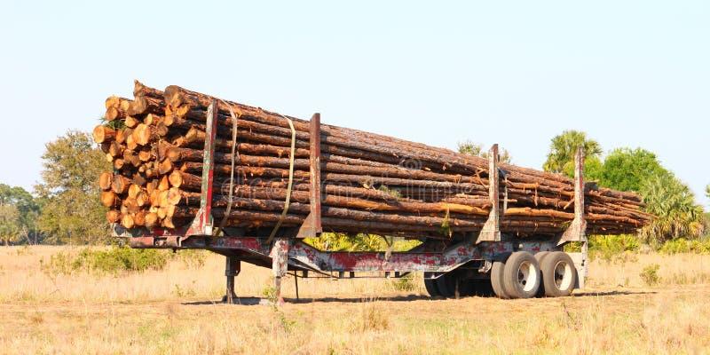 Logging Trailer - Florida royalty free stock photo