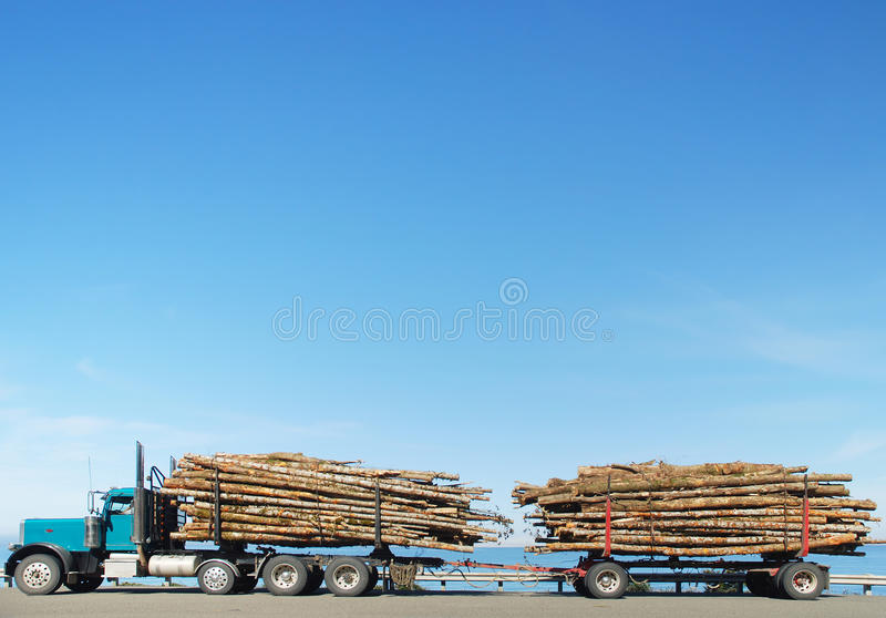 Logging Truck royalty free stock images