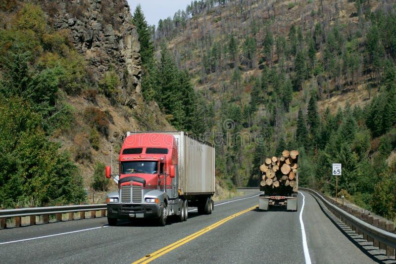 Logging truck stock images