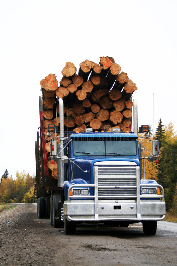 Free Logging Truck Royalty Free Stock Photos - 3377298