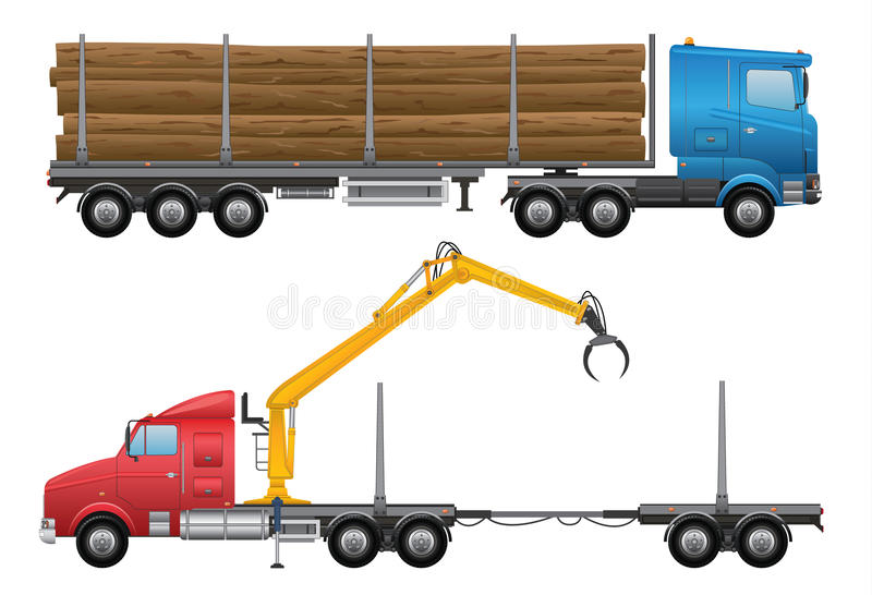 Download Logging Truck stock vector. Illustration of mover, shipping - 34703914