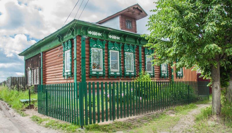 Loghouse russo tradizionale immagine stock libera da diritti