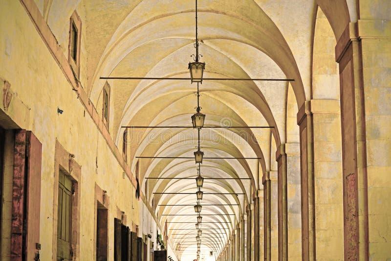 Logia de Vasari en Arezzo fotografía de archivo libre de regalías