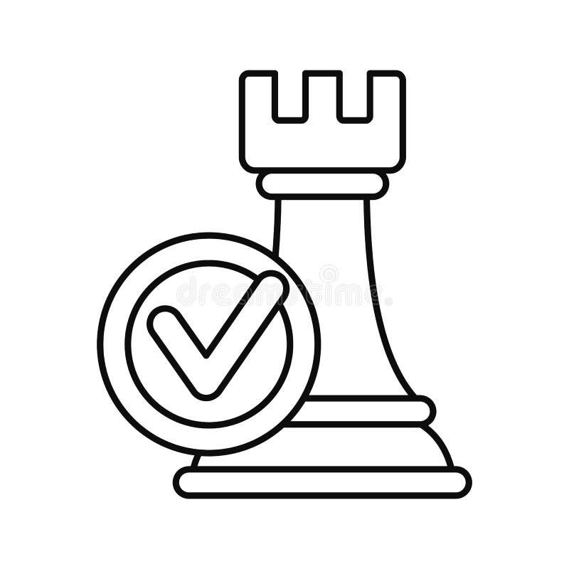 Logic decision icon, outline style royalty free illustration