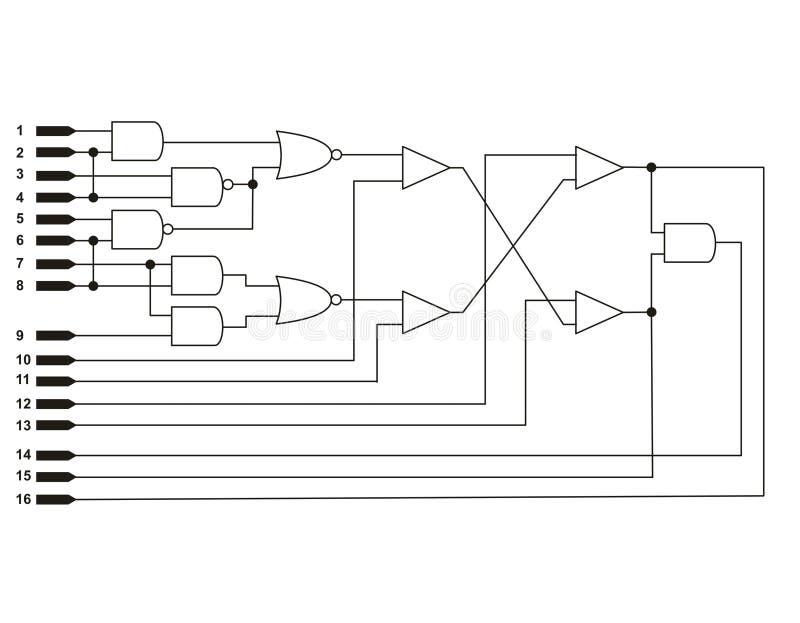 Logikdiagramm stock abbildung. Illustration von schaltung - 12409048