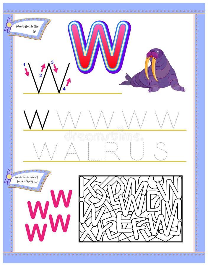 Logikpussellek Framkallande barnexpertis för att skriva och att läsa royaltyfri illustrationer
