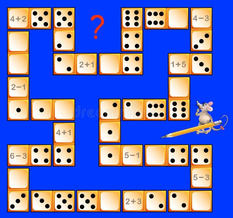 Logikrätselspiel Mit Dominos Lösen Sie Beispiele Zeichnen Sie ...
