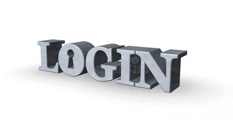 Login vector illustration