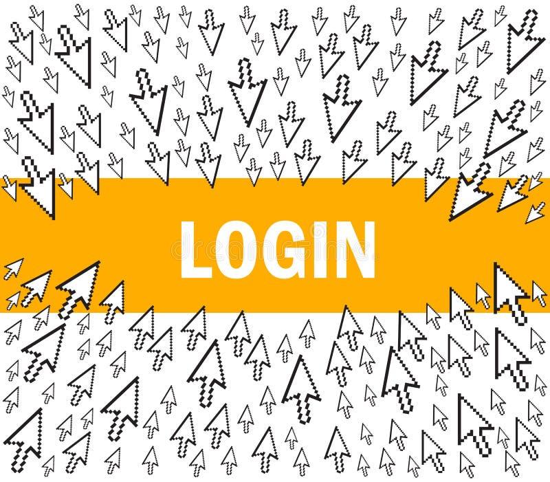 Download Login stock vector. Illustration of login, private, commerce - 17266123