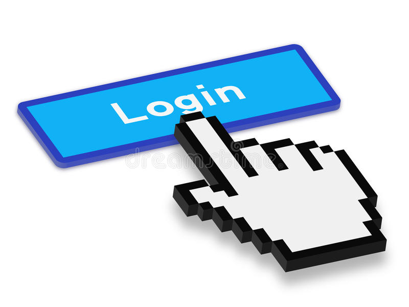 login illustration de vecteur