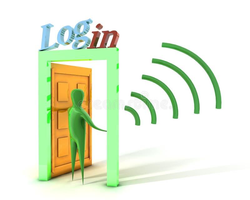 Login en connectiviteit vector illustratie