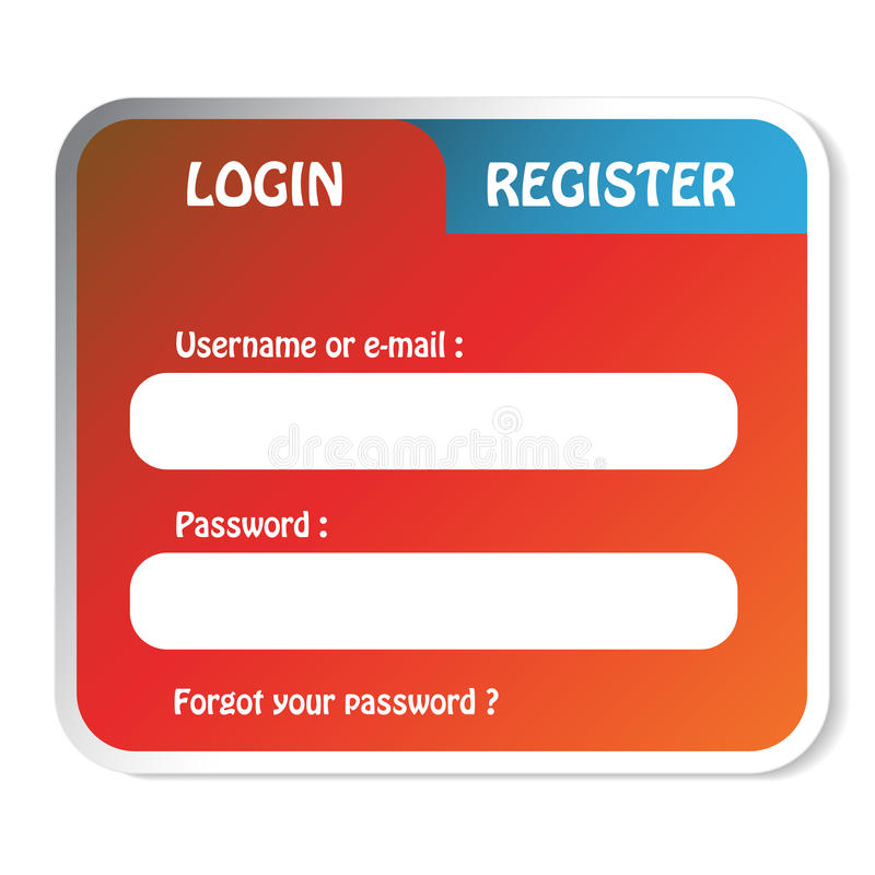 Download Login form stock vector. Image of page, paper, download - 22535276