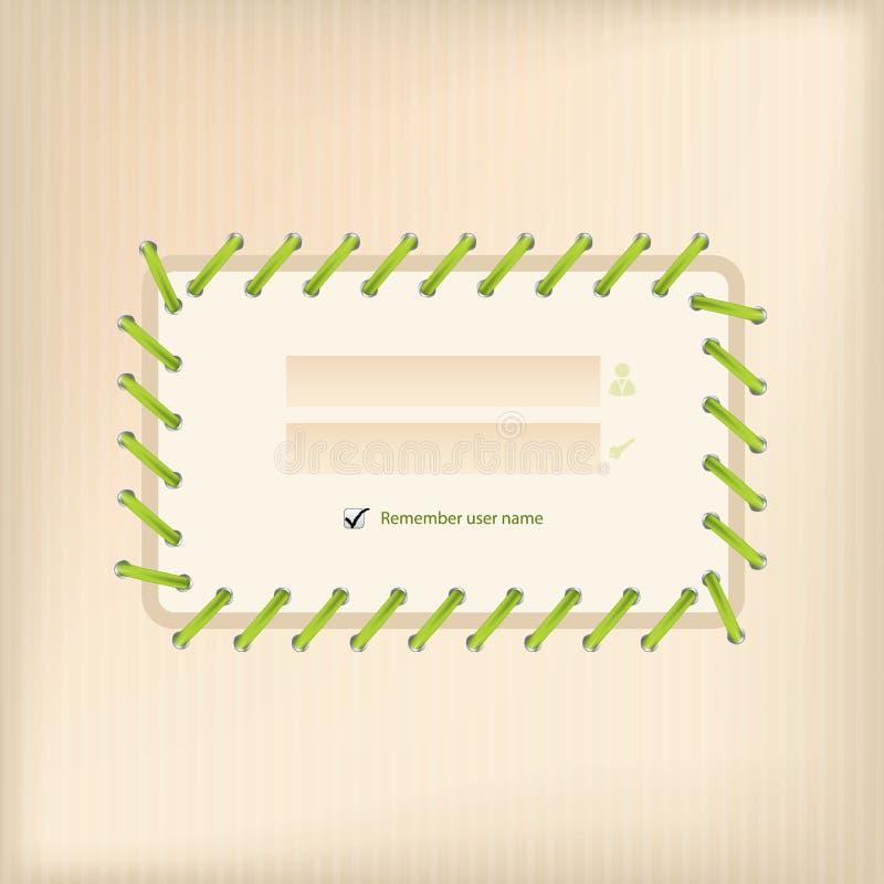 Login het scherm met schoenkant vector illustratie