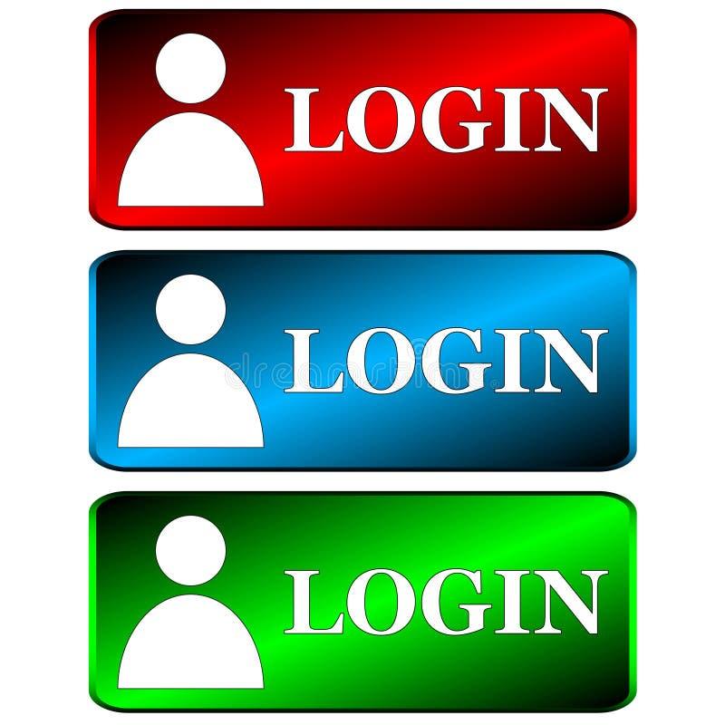 Download Login icons set stock vector. Illustration of register - 28619996