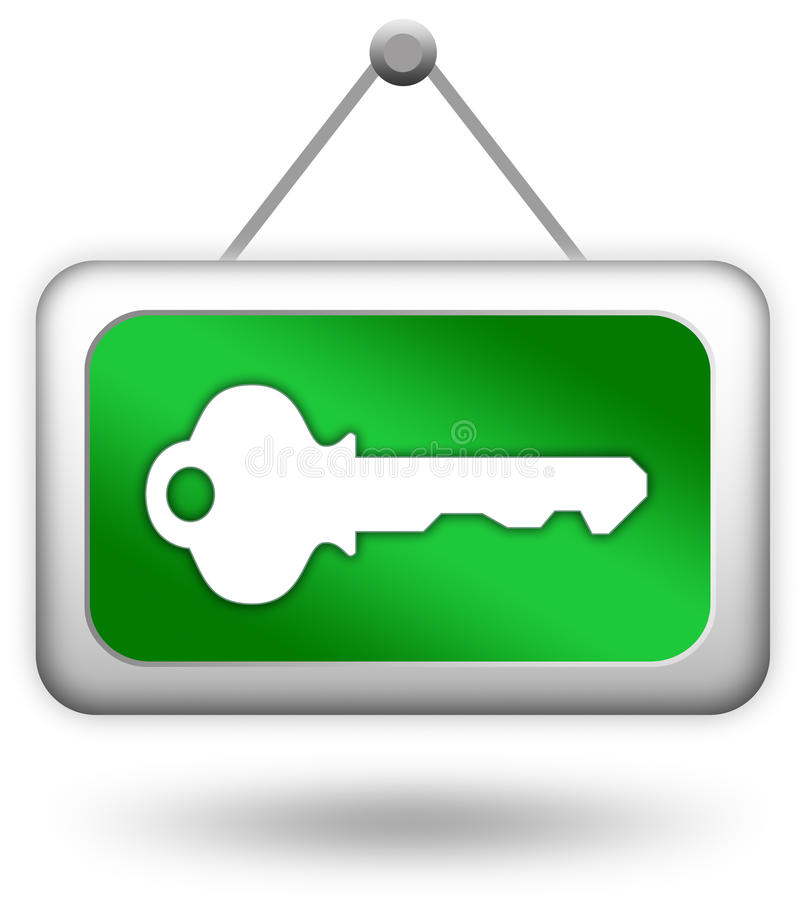 Login key sign vector illustration