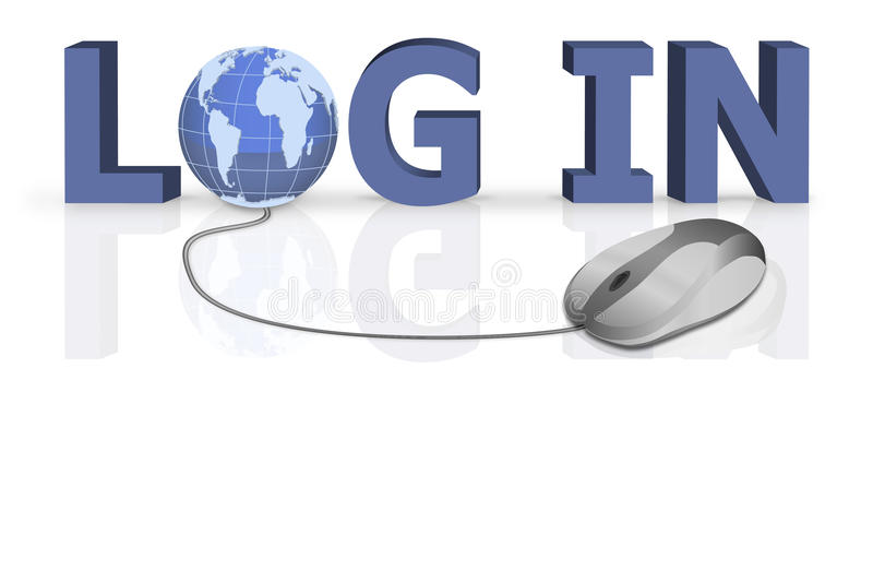 Download Login Logon Open Your Website On Www Stock Illustration - Image: 13281225