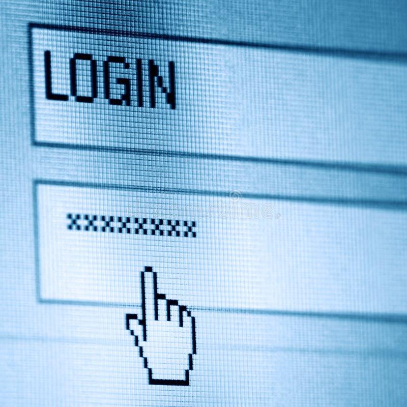 Login password stock images