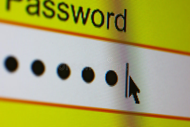Login password royalty free stock images