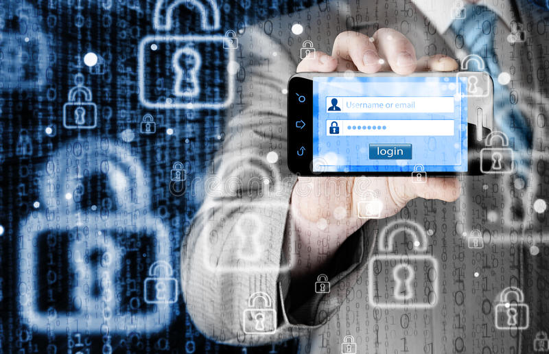 Login and password. Security concept stock image
