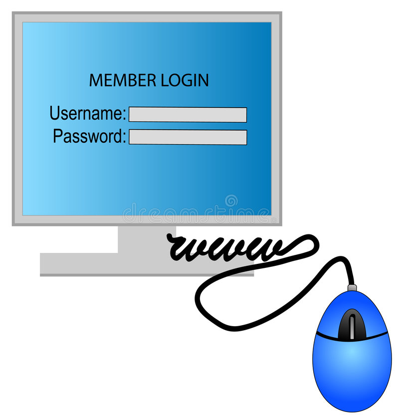 Login van de computer vector illustratie