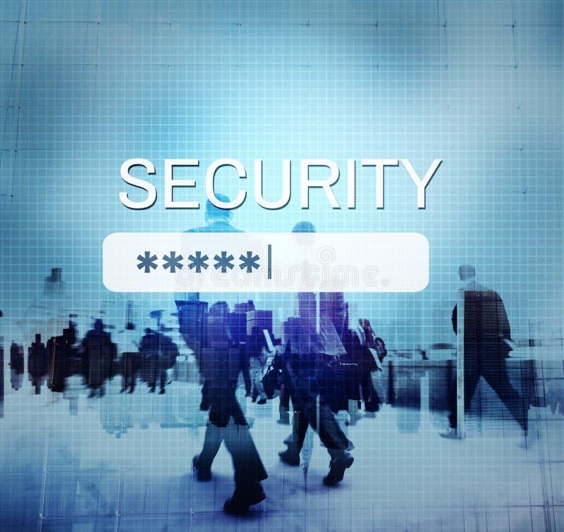 Login van het veiligheidsteken op Wachtwoord Geheim Concept stock afbeelding