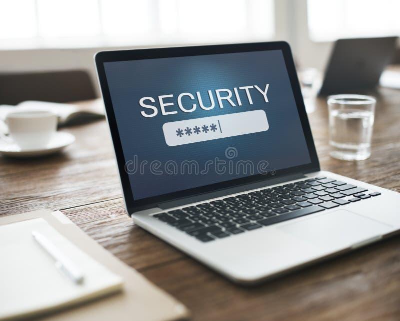 Login van het veiligheidsteken op Wachtwoord Geheim Concept royalty-vrije stock foto
