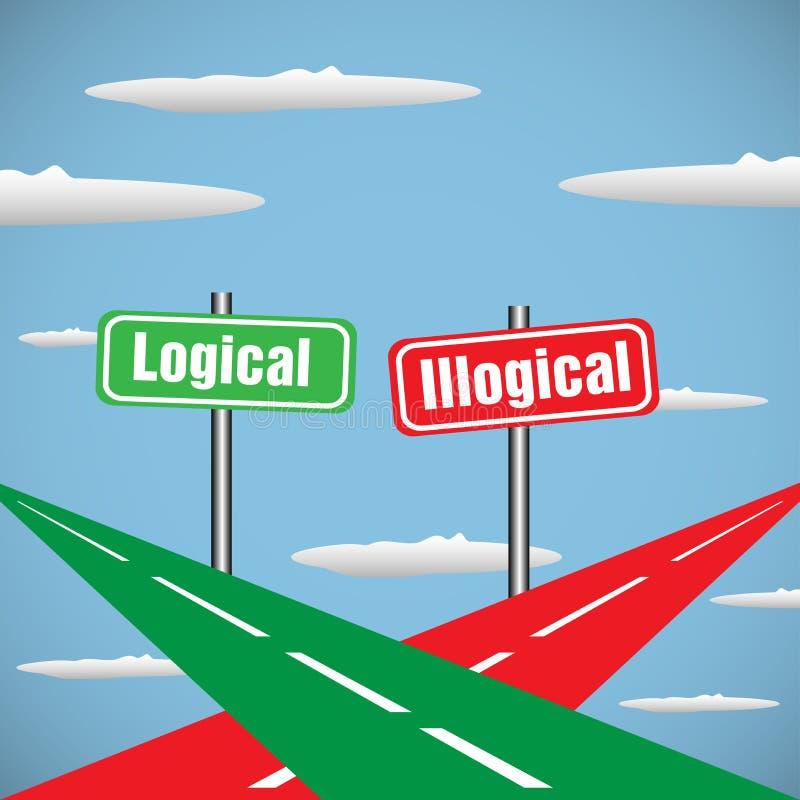 Logique et illogique illustration libre de droits