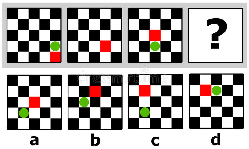 Logische quiz vector illustratie