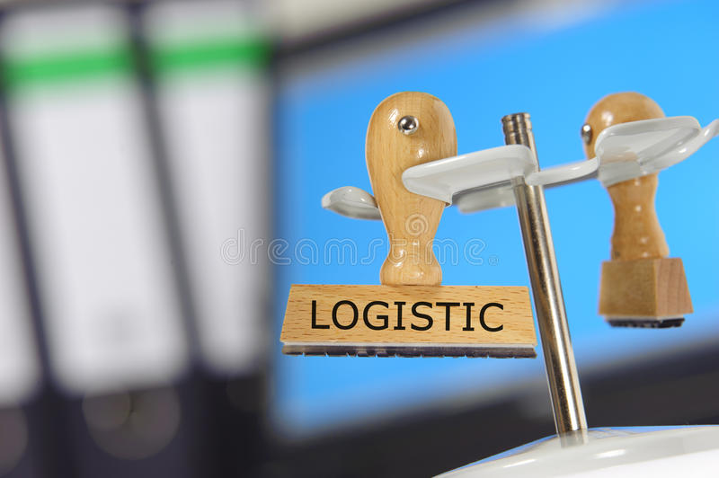 Logistic. Rubber stamp marked with logistic stock photo