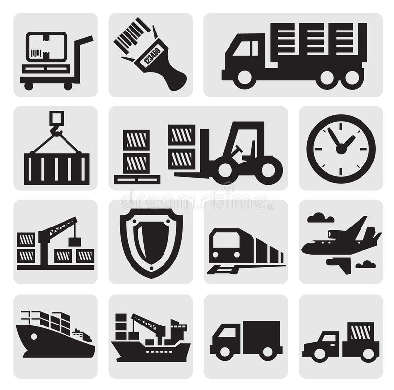 Free Logistic And Shipping Icon Set Royalty Free Stock Photos - 26369708