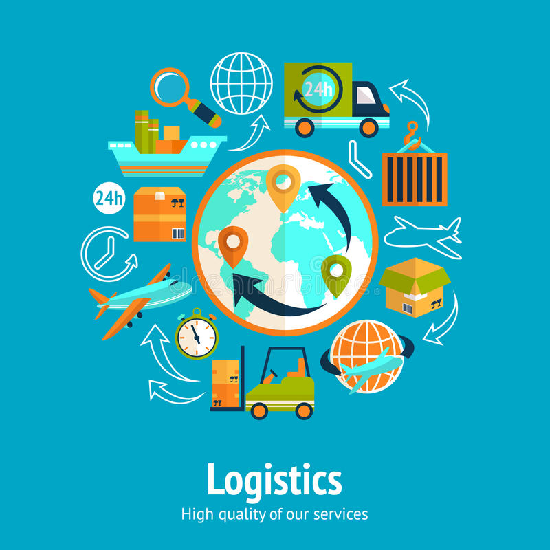 Download Logistic chain concept stock vector. Illustration of mobile - 40271089