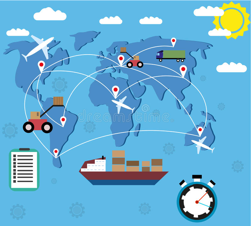 Logistic delivery concept stock illustration