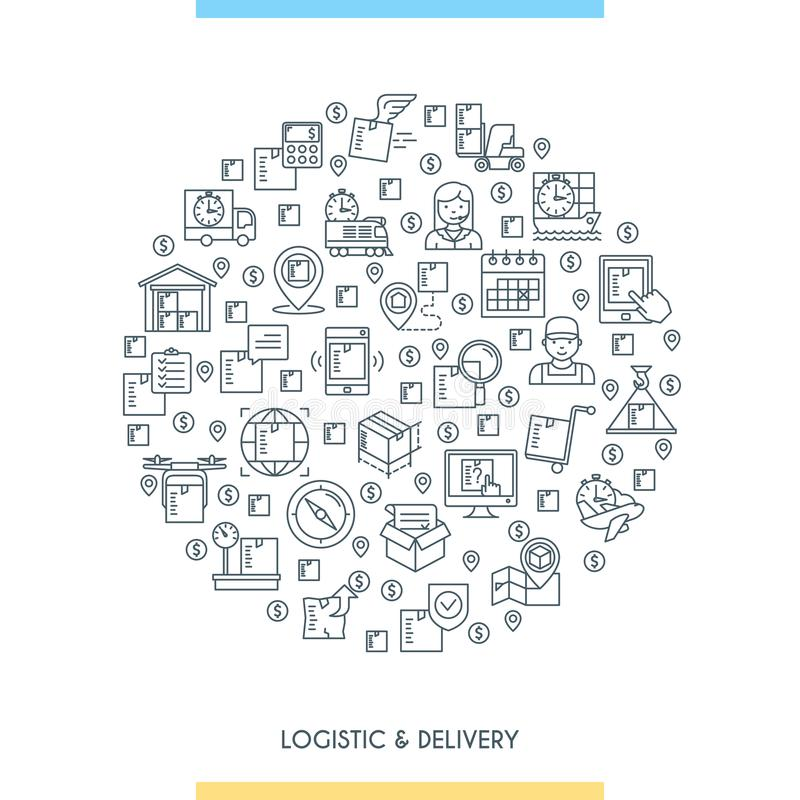 Logistic and delivery concept vector illustration