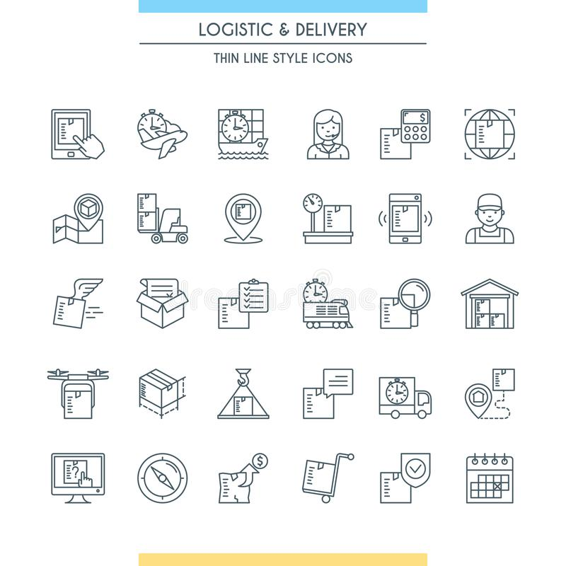 Logistic and delivery icon set. Modern thin line icons. Vector illustration vector illustration