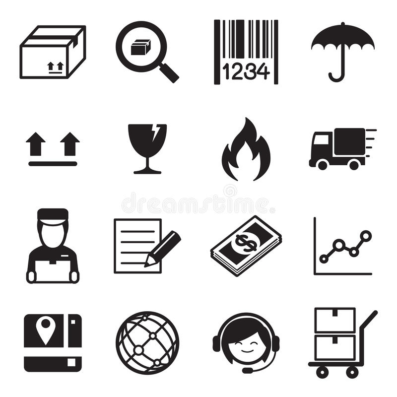 Logistic & delivery icon set Vector illustration. royalty free illustration