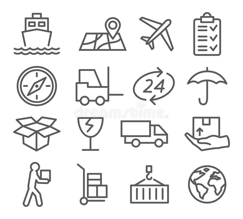 transport icons stock vector  illustration of boat  biking