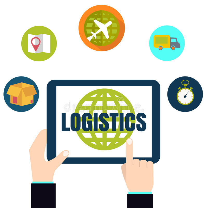 Logistic delivery network chain concept royalty free illustration