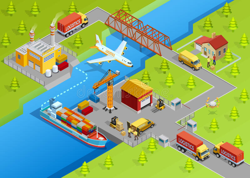 Logistic Delivery Template vector illustration