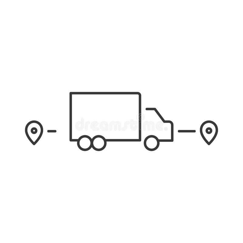 Logistic icon. Single high quality outline symbol for web design or mobile app. Thin line sign for design logo. Black outline royalty free illustration