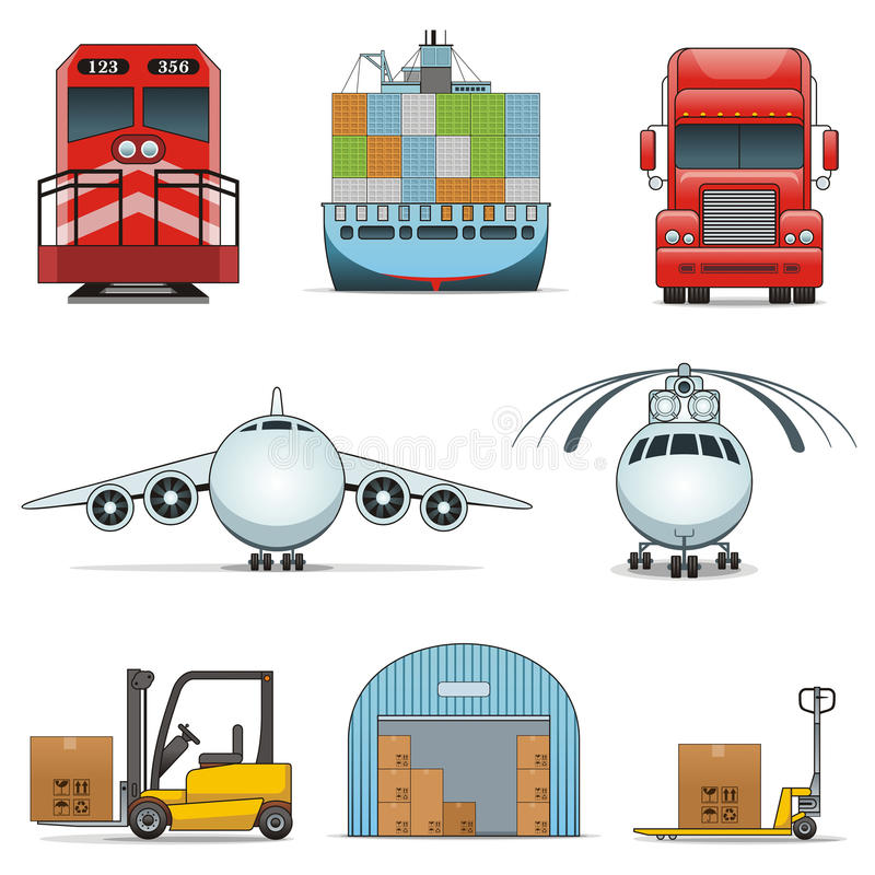 Download Logistic icons stock vector. Illustration of illustration - 23419781