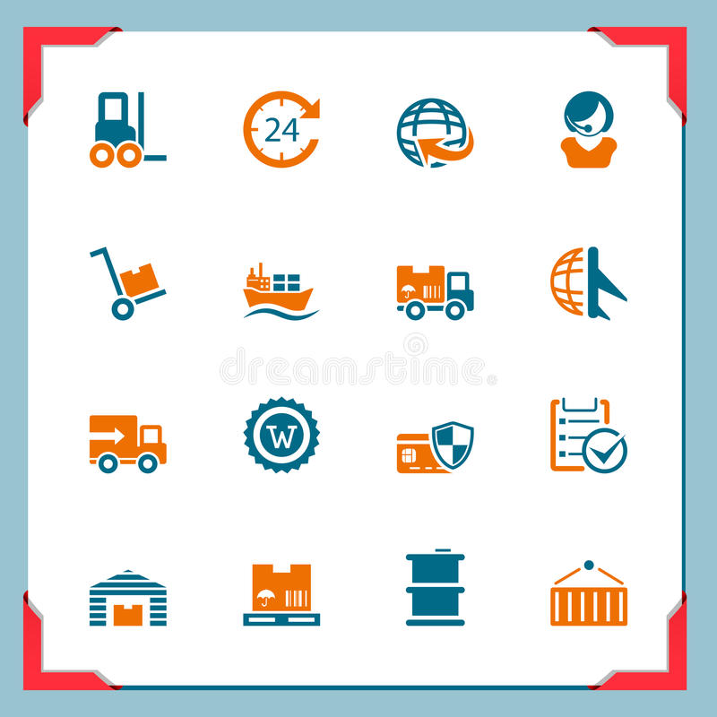 Download Logistic Icons | In A Frame Series Stock Vector - Image: 24085819