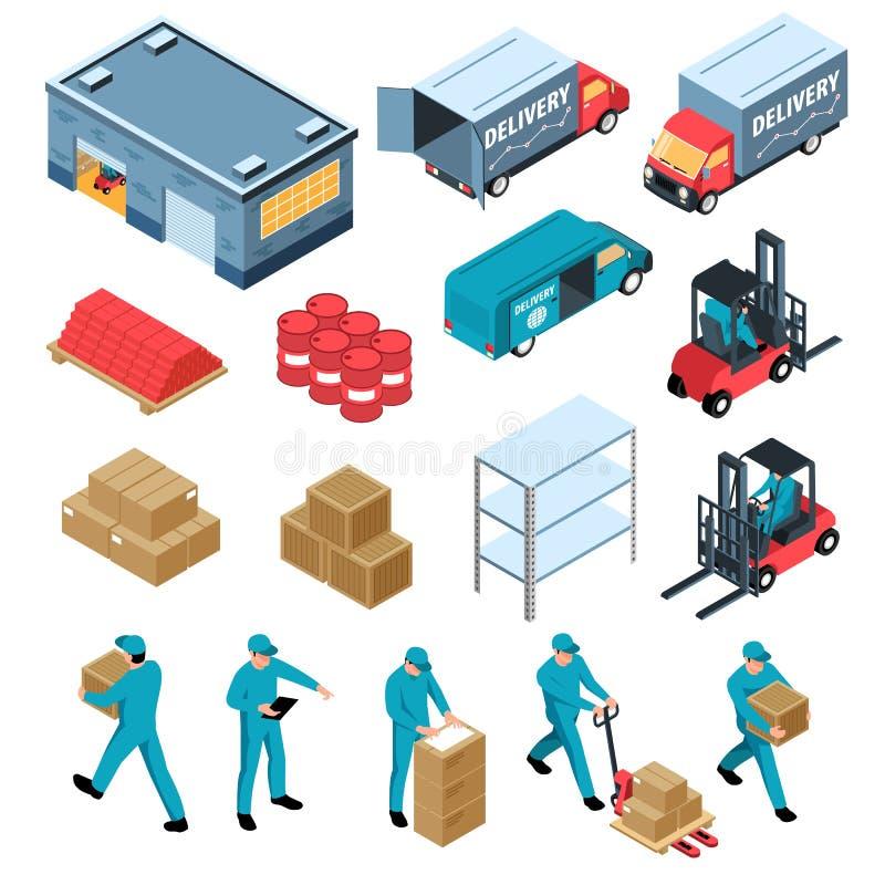 Free Logistic Isometric Set Royalty Free Stock Photo - 160054605