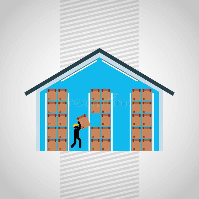 logistic service design stock illustration