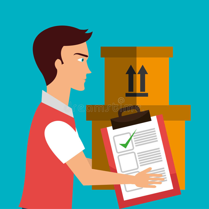 Logistic service stock illustration