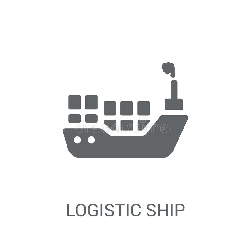 Logistic Ship icon. Trendy Logistic Ship logo concept on white b vector illustration