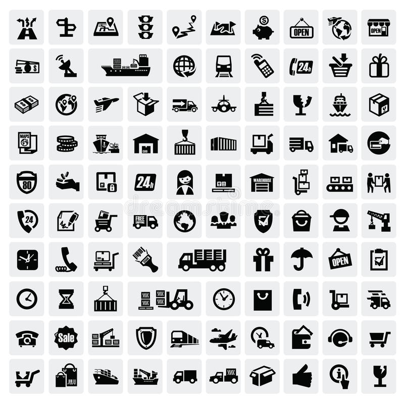 Download Logistic And Shipping Icons Stock Photos - Image: 28116393