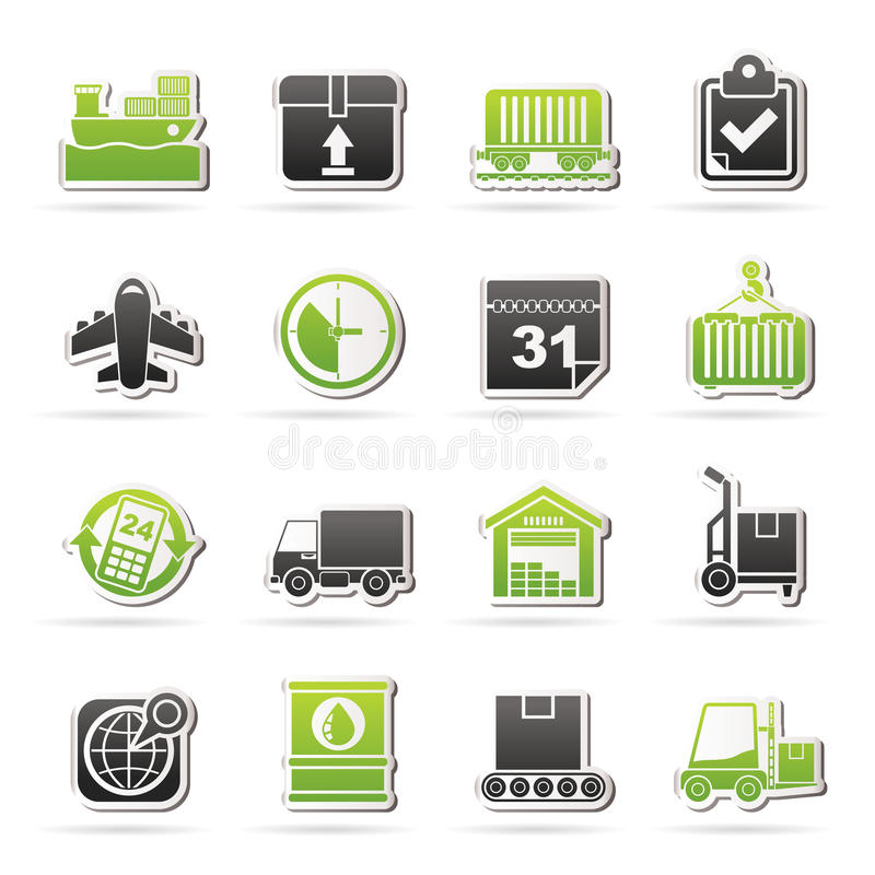Download Logistic And Shipping Icons Stock Vector - Illustration: 41396198