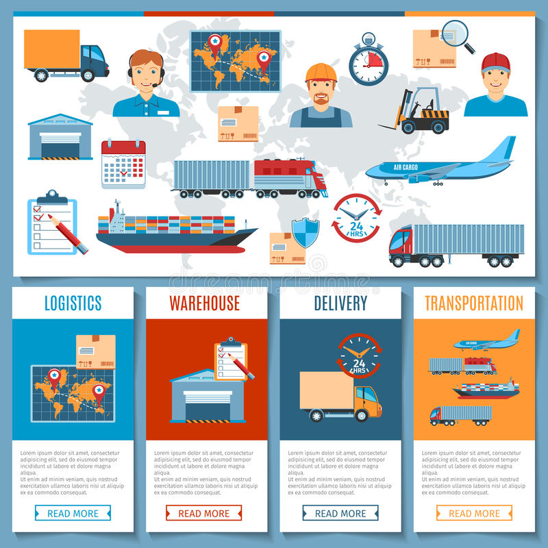 Logistic And Transportation Concepts stock illustration