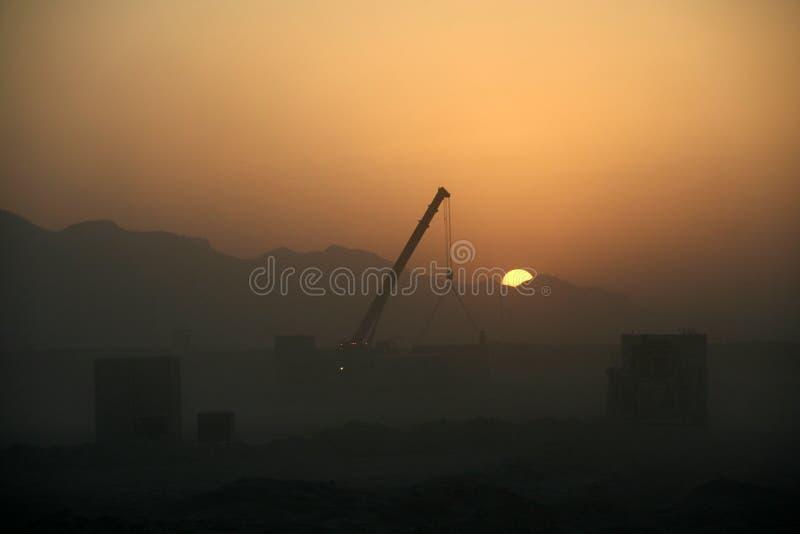 Logistica dell'Afghanistan come tramonto fotografia stock libera da diritti